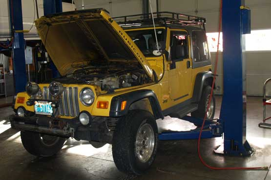 Specialty Automotive Service & Repair - Jeep being repaired